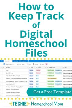 Learn how to keep track of all your homeschool links and digital files. Get a free template to take your digital homeschool organization to a new level. High School Writing Prompts, Importance Of Time Management, Home Schooling, Online Courses, Blog, Encouragement, Digital, Track, Piano Lessons