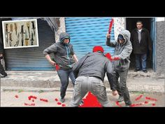 معركة دامية : مشرمل يعتدي على شاب بالضرب بالسكين فوق رأسه .إطلاق النار ع...