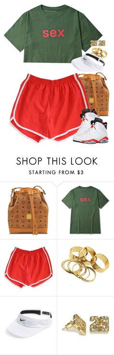 """Untitled #1581"" by power-beauty ❤ liked on Polyvore featuring MCM, Retrò and NIKE"