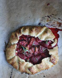 Strawberry Rhubarb Tarragon Galette via Cheryl Sternman Rule of 5 Second Rule