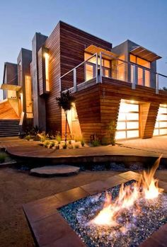 Santa Cruz - fuse architecture;what a funky clean style. And the firepit is pretty cool too!