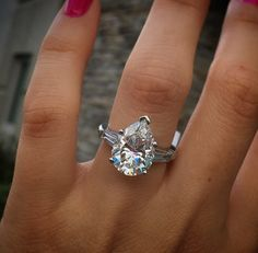 This pear shaped engagement ring is already heirloom quality. Giving your fiancé an heirloom ring is a way of bonding your family together and maintaining family tradition.