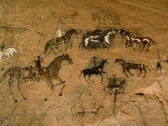 Native American Art on a Rock Wall in Canyon De Chelly, Arizona