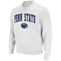 #Fanatics.com - #Stadium Athletic Penn State Nittany Lions Stadium Athletic Arch & Logo Crew Pullover Sweatshirt - White - AdoreWe.com