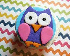 Owl Cupcake topper custom fondant toppers via Etsy Fondant Cupcakes, Fondant Toppers, Cupcake Toppers, Cupcake Cakes, Owl Parties, Owl Birthday Parties, Birthday Cakes, 2nd Birthday, Fondant Figures