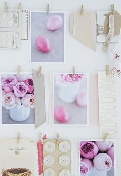 """Pink and White Mood Board """"Moods"""""""