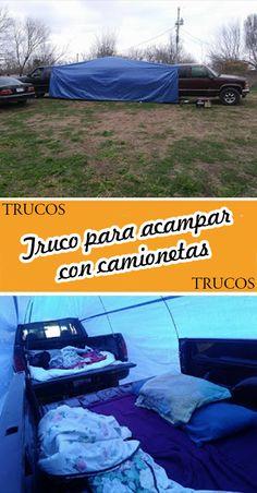 Truco para acampar con camionetas #Truco #Camionetas #Camping Picnic Blanket, Outdoor Blanket, Ideas, Pickup Trucks, Cars, Autos, Camping Tricks, Hunting Guns, Fishing Rods