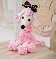 Yarnspirations is the spot to find countless free intermediate crochet patterns, including the Red Heart Pomp-a-Poodle. Browse our large free collection of patterns & get crafting today! Kawaii Crochet, Crochet Disney, Cute Crochet, Crochet Yarn, Crochet Toys, Dog Crochet, Crochet Teddy, Crochet Patterns Amigurumi, Amigurumi Doll