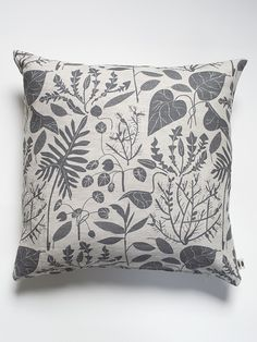 Image of Charcoal Houseplants Pillow Case