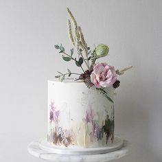 Soul Cake: Specializing in wedding and celebration cakes in MA Soul Cake, Cream Paint, Painted Cakes, Cake Trends, Cake Gallery, Watercolor Texture, Buttercream Cake, Pretty Cakes, Celebration Cakes