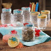 The Pioneer Woman Betsy 8-Ounce and 16-Ounce Storage Jar Set, Set of 8 Image 1 of 4