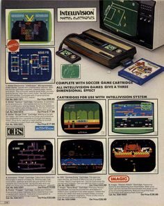 from Argos 1983 Autumn/Winter - Video Game Devices - # Vintage Video Games, Classic Video Games, Retro Video Games, Vintage Games, Vintage Toys, Retro Games, Nintendo, Playstation, Consoles