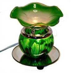 Tart/Oil Warmer Marble Green  NEW ITEM!