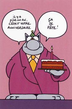 """Résultat de recherche d'images pour """"le chat geluck anniversaire image"""""""