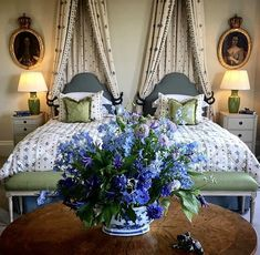 The Key to Successful Gorgeous Romantic Blue Bedroom Decor - kindledecor Blue Bedroom Decor, Bedroom Wall, Bedroom Furniture, Master Bedroom, French Country Bedrooms, Shabby, Guest Bedrooms, Guest Room, Bed Sets