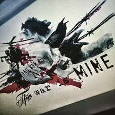 """The War Is Mine. Realistic Trash Polka coming. #ink #inked #tattoo #realistictrashpolka #war #skull #crow #death #metaldogtattoo #matilhametaldog"""