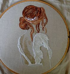 how to embroider curly hairNo photo description available.Here are the 9 hairstyles included in my new embroidery pattern. Wedding Embroidery, Modern Embroidery, Embroidery Hoop Art, Hand Embroidery Patterns, Cross Stitch Embroidery, Embroidery Needles, Machine Embroidery, Ribbon Embroidery Tutorial, Silk Ribbon Embroidery