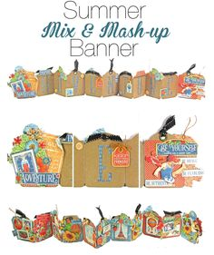 Graphic 45 Presents a Summer Mix & Mash-up Banner & Cards Project Sheet…