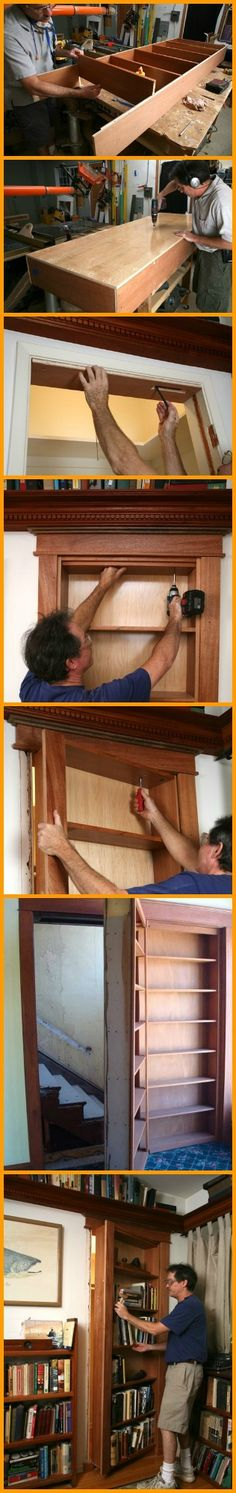 Hidden behind this DIY bookshelf door could be your own secret room…