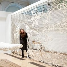 """""""Lost in Lace"""" exhibit at Birmingham (UK) Museum"""