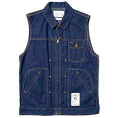 NEIGHBORHOOD's SVG range introduces a new silhouette to their repertoire this season in the Light Denim / C-Vest.
