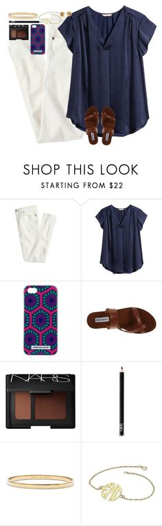 """""""Say you'll see me again even if it's just in your wildest dreams"""" by lauren-hailey ❤ liked on Polyvore featuring J.Crew, H&M, Jonathan Adler, Steve Madden, NARS Cosmetics and Kate Spade"""