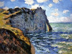 The Cliff of Aval, Étretat by Claude Monet in oil on canvas, done in Now in the Israel Museum. Find a fine art print of this Claude Monet painting. Monet Paintings, Impressionist Paintings, Landscape Paintings, Chagall Paintings, Abstract Paintings, Painting Art, Claude Monet, Pierre Auguste Renoir, Pierre Bonnard
