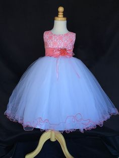 21.04$  Buy now - http://vihrn.justgood.pw/vig/item.php?t=9xw3x6n48293 - Flower Girl Bridesmaids Wedding Easter Elegant Tulle Color Lace Dress #015