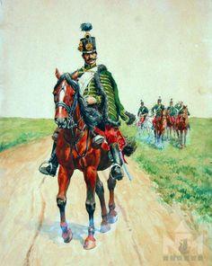 Miklós huszár (akvarell, Sárvár, Nádasdy Ferenc Múzeum ltsz: 83.120.1)