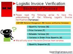 SAP ERP Material Management MM Invoice verification Blocking of Invoices