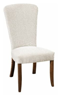 Amish Bailey Upholstered Side Dining Chair The Bailey is friendly, fresh, supportive and custom made. Pick wood, stain and upholstery and Amish woodworkers take care of the rest.