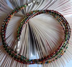 Fall Necklace, Seed bead necklace, Tiny Beaded Necklace,  Multilayer and Multistrand Seedbeads Necklace, Multicolored Seed Bead Necklace by lanesamarie on Etsy