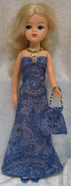 Clothes for Vintage Pedigree SINDY Dolls #15 Dress, Purse & Beaded Necklace Set #HandmadebyESCHdesigns