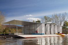 ARO Architecture Research Office, James Ewing · Kayak Pavilion at Long Dock Park #pavilionarchitecture