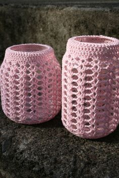 Crocheted Jar Cover - Pattern
