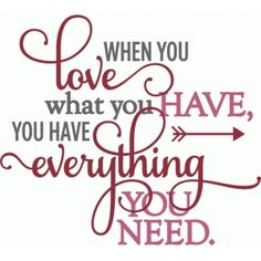Silhouette Design Store: kolette - have love have everything - layered phrase