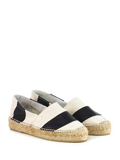 ESPADRILLES - Scarpa bassa - Donna - Scarpa bassa in pelle e glitter con  inserto elastico 35951f9257a