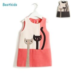 Girl Dress 2016 New brand Children baby cat Sleeveless Princess Dress Winter…, . - Girl Dress 2016 New brand Children baby cat Sleeveless Princess Dress Winter…, Source by - Cute Party Outfits, Baby Girl Party Dresses, Little Girl Dresses, Kids Outfits, Girls Dresses, Dress Girl, Kids Winter Fashion, Kids Fashion, Winter Kids