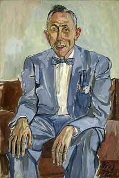 Fuller Brush man, 1965, by Alice Neel (American, 1900-1984)