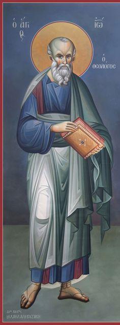 Άγιος Ιωάννης Θεολόγος / Saint John the Theologian Byzantine Icons, Byzantine Art, Religious Images, Religious Art, Roman Church, Orthodox Christianity, Orthodox Icons, Russian Art, Saints