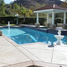 Deckrete Concrete Resurfacing & Waterproofing - South El Monte, CA, United States. Pool Deck - Stamped Concrete Overlay