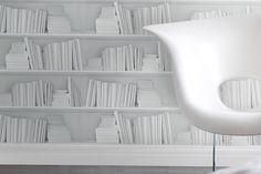 White Bookshelf Wallpaper - Bookshelf Ideas - Living Room & Design Ideas (houseandgarden.co.uk)