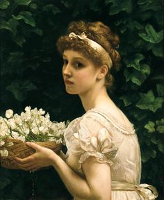 Love this idea for a bouquet, and the dress is also really adorable! --Fleurs de pois par Sir Edward Poynter John
