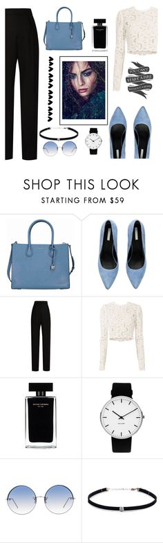 """""""black white and blue"""" by evinejosianne ❤ liked on Polyvore featuring Michael Kors, Lanvin, A.L.C., Narciso Rodriguez, Rosendahl, Linda Farrow and Carbon & Hyde"""