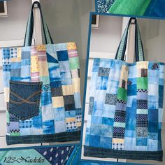 Recycling, Diaper Bag, Upcycle, Shopping Bags, Blog, Scrappy Quilts, Old Clothes, Fabric Remnants, Shopping