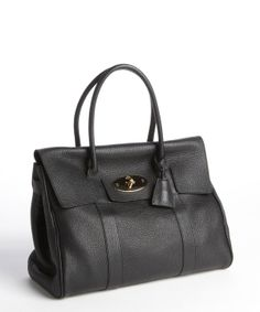 Mulberry black pebbled leather 'Bayswater' bag