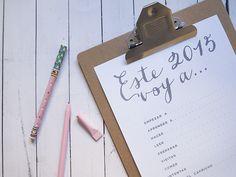 imprimible: propósitos para 2015