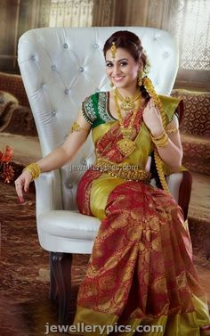 Tollywood actress Aksha in bridal jewellery for Chennai Silks - Latest Jewellery Designs