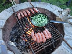 why not 'beast it' for dinner tonight? / DIY Camp Fire Grate / cooking grilling outdoors / Via Julie Loves Home