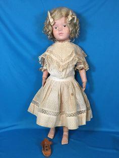 Antique Schoenhut Wooden & Composition Little Girl Doll